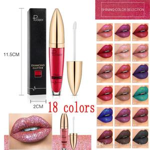 Pudaier Lip Gloss 18 Colors Flip Classic vivid Lip Gloss Pearlite Glitter Lipstick Matte Diamond Glitter Liquid Lipstick Waterproof