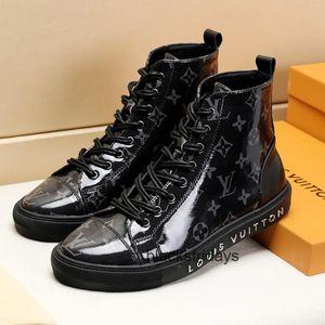 Kutu Dövme Sneaker Boot Erkekler Ayakkabı Casual Zapatos de Hombre Bilek Boots Moda Tip erkekler Ayakkabı Sneakers Günlük Moda Çizme Footwears