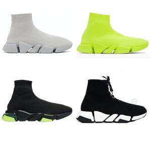2021 Nouvelle vitesse Sneaker 2,0 pour hommes Femme Femme Speaker 3D tricots chaussettes Bottes triple coureurs noires chaussures boîte boîte à poussière