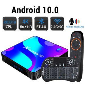 Android 10.0 TV BOX 4K 3D 2.4G5.8G Wifi Youtube HDR + haut Qualty Très rapide Boîte 4 Go 32 Go 64 Go 128G ROM