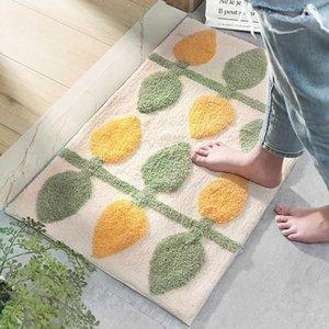FLOCKING PORTA MAT MATCHING Tapete Quarto Sala de estar Tapetes Banheiro Banheiro Anti-Slip Chavete Absorção Tapete Entrada Mat1