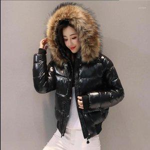 Dugujunyi 2019new preto moda brilhante inverno mulheres jaqueta impermeável parkas feminino casaco quente inverno casaco com capuz mulheres outerwear1