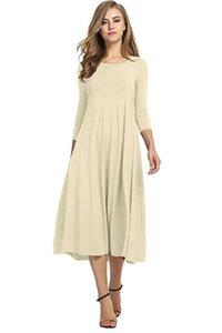 Reine farbe plissee kleid lange sleeve crew neck slim kleider weibliche frühling herbst kleidung