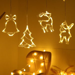Led Christmas Light String Ins Window Suction Cup Chandelier Creative Christmas Decoration Light String Scene Layout Lantern Wholesale
