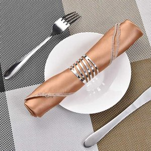 12PCS Back Pattern Wedding Napkin Rings Table Decoration Hollow Out Family Gatherings Everyday Use Napkin Buckle Holder