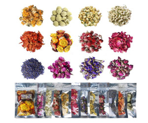Getrocknete Blumen 12 Packung Natürliches getrocknetes Blumen-Kit für Harzschmuck, Seifenherstellung, Bäder Bomben, Kerze machen, beinhaltet Rosebud, Lavendelknospen ...