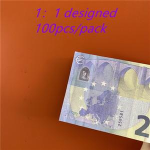 Fake 20 Notes Contraft Paper Money Money Faux Leget Bond деньги Великобритания Евро Монеты Дети подарок Бесплатная игра Играть 100 шт. / Упаковка 03