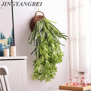 Chlorophytum Leaves Vines Room Decor Hanging Artificial Plant Plastic Leaf Grass Wedding Party Wall Balcony Decoration Garland