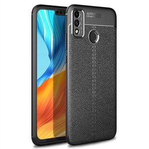 Für Huawei Honor 9x Lite Litchi Texture TPU Stoßfest Hülle