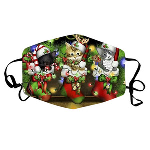 Half Face Facemask Filters Christmas Print Outdoor Sports Cycling Mask New Reusable Breathable Multi-Purpose Cover
