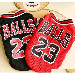 hot sale hipidog pet cats dogs clothes cool sports jerseys puppy dog t-shirt summer breathable mesh vest shirt apparel lovely costume j89zl