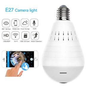 960P Wifi Smart Light Lamp Panoramic Camera Bulb 360 Degree Fisheye Wireless Home Security Video Surveillance Version Two Audio