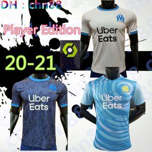 Thaïlande Maillot OM Olympique de Marseille Maillot de football 2020 Version Marseillais Maillot de foot BENEDETTO PAYET 20 21 chemises THAUVIN