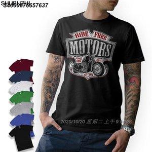 Roupa O-Neck T-Shirt marca de moda adolescente t-shirt - Motard - Moto Motos Chopper Bobber Old School baratos Tees 33192010