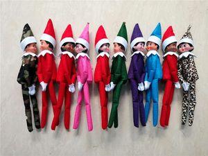 Livraison gratuite 10 Styles Joyeux Noël Ornements Elf en peluche Poupées Jouets sur le plateau pour Kid Christmas Gift Party Maison de vacances Décor B41