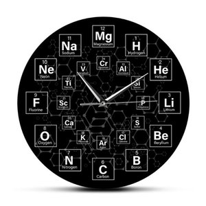 Periodic Table of the Elements Symbols Wall Clock Science Wall Art Decor Classroom Watch Chemistry Teacher Gift