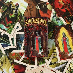 Полный английский 78pcs карты Santa Muerte Таро Книга Мертвых партия семьи Настольные игры Развлечения yxlucR qpseller