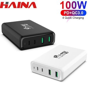 100W USB-C PD DUAL QC3.0 Fast Charger Wall Quick PD Charger with Full speed Compatible with Type-C for 8 11 pro1