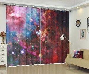 Galaxy Universumsvorhänge von 3D Digital Print Window Drapes 2 Panel Set für Wohnzimmer-Bettwäsche-Zimmer. Hauswanddekoration1.