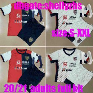 Erwachsene Full Kit 20 21 Cagliari Calcio Soccer Jerseys Joao Pedro Limited Edition NaingGolan 2020 2021 Maglie Da Jubiläum Männer Uniform Sets