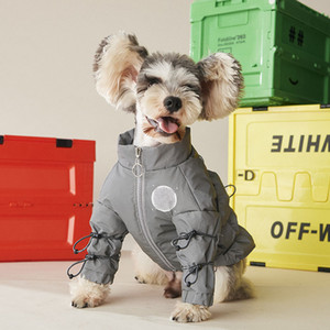 Winter Fall Warm Pets Coats Fashion Solid Designer Schnauzer Pets Jackets Outdoor Proof Pattern Teddy Bichon Outerwears