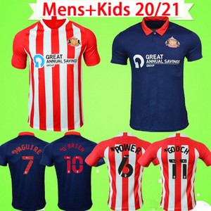 2020 2021 Sunderland Soccer Jersey Home Whter Blue Safc 20 21 Wembley Maja Gooch Camicia da calcio Maguire Wyke Kit Kit Kit Maillots de Piede