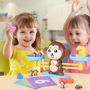 QWZ Montessori Mathe Match Spiel Spielzeug Affe Welpen Balancet Waage Number Balance Spiele Baby Lernen Spielzeug Tier Action Figuren 200928