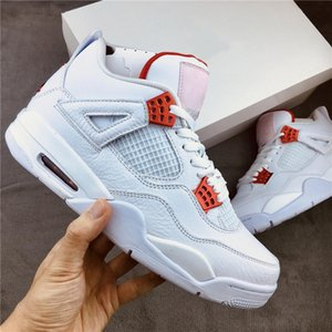 Best Quality Jumpman 4 High Og 4s Red Metallic What The Bred Black Infrared Cool Grey Men Women Basketball Shoes Sports Sneakers wit