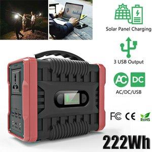 휴대용 발전소 60000mah 222Wh 발전기 태양 광 발전은 에너지 저장 장치 USB 110V 220V 전원 은행에 대한 야외 에너지 공급