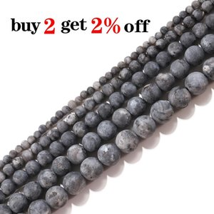 4 12mm Matt Dull Polish Natural Black Labradorite Stone Round Loose Beads For Jewelry Making Diy Necklace Bracelet Wholesale H bbyyDM