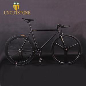 트랙 자전거 마그네슘 합금 휠 3 스포크 Fixie 자전거 고정 기어 자전거 700C 휠 52cm 프레임 완성 도로