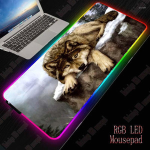 XGZ Wolf RGB Gaming Large Animal Mouse Pad Gamer Led Computer Mousepad Big Mouse Mat with Backlight Carpet for Keyboard Desk Mat1