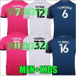 2020 Accueil 2021 Derby County Football Maillots ROONEY 20 21 JOZWIAK loin JORDON BYRNE CLARKE RAVAS TEWIERIK chemises de football top uniforme thaïlande