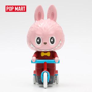 Pop Mart Canavar Labubu Clockwork Üç Tekerlekli Bisiklet yaklaşık 18 cm Oyuncak Şekil Ücretsiz kargo Y0120