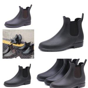 FaAay Último tobillo para mujer Botas para adultos Matchmake Slip Boot Boots Botines de lluvia de baja moda Zapatos de cuero Botines Boot Boot Boot Women