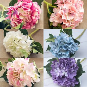 46cm Artificial Hydrangea Flowers Wedding Decorations Real Touch Christmas Silk Flower 6 Colors Home Furnishing Flowers Wall 5 4hz G2