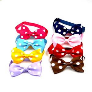 Wholesale Dog Accessories Cats Bow Tie Adjustable Neck Strap Cat Dog Grooming Accessories Cat Necklace randomly colors