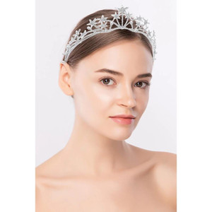 Star Shape Crystal Princess Crown Fascia per ragazze Queen Party Prom Prom Strass Headwear Wedding Bridal Bodiery Accessori
