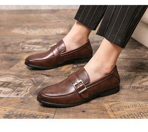 2021 cheap mens dress shoes Formal business brogue shoes Groom shoes 493
