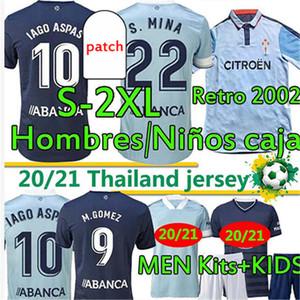 Retro Soccer Jerseys 2002 2004 RC Celta de Vigo Männer Kinder Kits 20 21 Camiseta Chándal de Futbol Iago Aspas S.Mina Denis Suárez Football Shirt