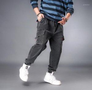 Мужские джинсы Джинсовые джинсовые брюки мужской комбинезон с небольшими ногами черный свободные длинные джинсы1