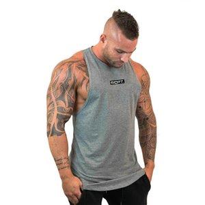Ginásio guerreiros de algodão de moda camisas sem mangas tanque homens da aptidão da camisa mens singlet Musculação treino de ginásio colete homens de fitness