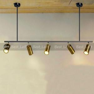 Nordic rotating led spotlights 5  7 Heads LED lamps Suspension For showroom clothing store Gold corridor track Art villa