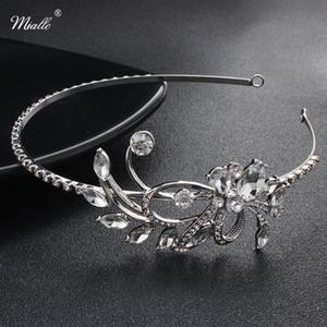 Miallo Classic Women Tiaras and Crowns Austrian Crystal Stone Hairbands Princess Diadem Wedding Bride Hair Jewelry Accessories