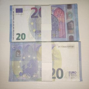 Props Children Realistic Copy Euro 20 Billet Bar Banknote LE20-21 Currency Faux Puisc Gift Prop Ticket 2021 Hot Toy Nngbo