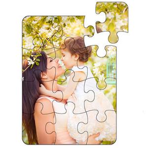 Blank Puzzle per Type Sublimation Cuore Trasferimento Stampa Perle Luce Bianco Bianco Puzzle Personalizzazione Sublimazione Diy Puzzle Giocattoli per bambini