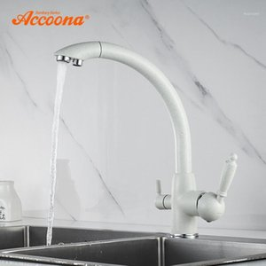 Accoona New Arrival Kitchen Faucet 360 Degree Rotation with Water Purification Features Cold and Hot Kitchen Faucets A5179-71