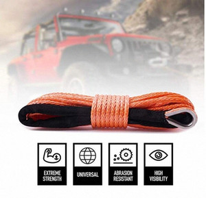 6MMx50M Orange Synthetic Winch Rope High Quality String Line off-road UHMWPE Cable Towing Rope With Sleeve for ATV UTV SUV Uag3#