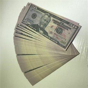 100 monnaie de monnaie / package 50-5 en gros de haute qualité U.S. U.S. Fast Paper accessoires Money Copie expédition Devise PCSSN Ijase