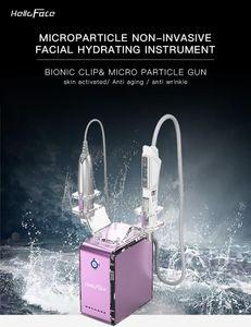 2 handles bionic clip eyes care skin rejuvenation machine EMS meso gun Microcurrent face lift machine+mesotherapy gun beauty equipment